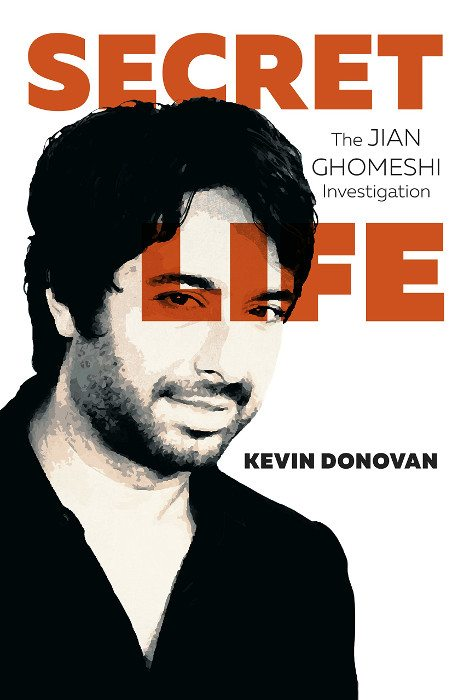 "Pix of Jian Ghomeshi on Kevin Donovan book jacket, ""Secret Life"""