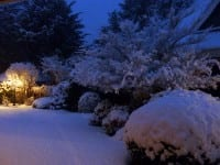 This fresh snowfall at a home in Victoria, BC suggests quiet and loneliness